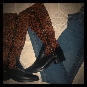 Cheetah leather boots ❤️❤️❤️❤️